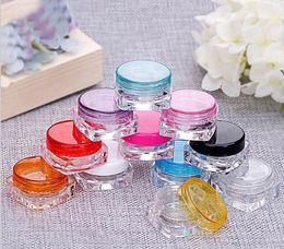 Contenedor de sombra de ojos de botella de crema 3G, pequeño tarro de crema de energía 3g Contenedor de cosméticos, mini envase de cosmético de envases cosméticos desde fabricantes