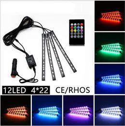 Canada LED Car Light Télécommande 12LED RGB LED Glow Lampe Décorative Car Styling RGB Contrôleur Pour Toutes Voiture supplier car light styling Offre