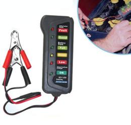Wholesale 12v Car Battery Alternator Tester - 100pcs by dhl fedex 12V Digital Indicates Tool Alternator Tester with 6-LED Lights Display Car Battery Tester Diagnostic Tool