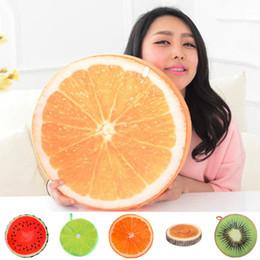 Argentina Nueva moda Cojín 3D Fruit Pillow Novela Diseño Soft Plush Round Cojín Fruit Pillow Cojín Sofá Decoración del hogar Throw Pillow Suministro