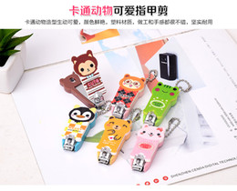 Wholesale Nail Clippers Korea - Cute cartoon animal nail clippers nail clippers baby nail clippers pedicure knife finger scissors wholesale Korea Knife Set
