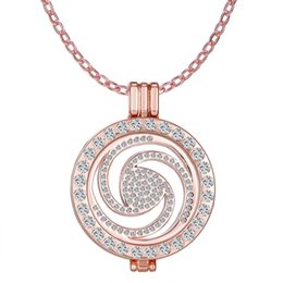 Wholesale Replace Coppers - Personality can replace coin necklaces Moneda Coin and 35mm floating pendants and 65cm chain moneda necklaces My coin necklaces