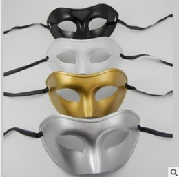 Wholesale White Masquerade Masks For Women - Free Venetian masquerade masks for Halloween masquerade balls Mardi Gras Prom Dancing Party half eye gold silver Masks for men and women