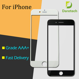 Wholesale iphone front screen replacement - Front Outer Touch Screen Glass Lens Replacement for iPhone 5 6 Plus 6s 6S Plus 7 Plus free DHL(mix color)