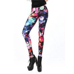 Wholesale Slim Girls Sexy Leggins - Wholesale- Women leggings Geometric Boho Art Printed leggins Girl legins Sexy Slim Women Pants