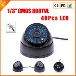 Wholesale Vandalproof Ir Color Camera - 1 3'' Vandalproof IR-Cut HD CMOS 800TVL 48 IR LED Day Night Color Dome Camera Security Camera CCTV