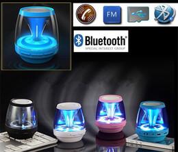 Wholesale Car Audio Led Lights - Wireless Bluetooth Speakers Powered Subwoofer LED Light Support TF Card FM MIC Mini Digital Speaker car hands-free calls M28