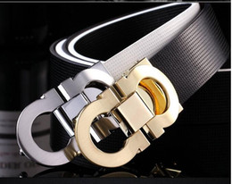Wholesale Coffee One - White black  brown blue coffee fashion men belts High quality brand designer genuine leather belt for men women belts