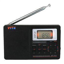 Wholesale Digital Clock Radios - New Portable DSP FM Stereo   MW   SW   LW   TV Radio World Band Receiver Digital Alarm Clock F9201B