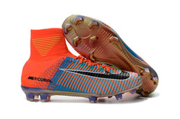 Wholesale Limited Soccer Cleats - 2017 EA Sports launched limited Edition Kids Football shoes Superfly 39-45 V FG soccer shoes Mercurial x EA SPORTS Soccer Cleats
