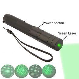 Wholesale Pen Presenter - Green Laser pen SD Laser 303 Lazer High Power Laser Pointer presenter laserpointer +safe key(Batteries not included)