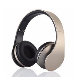 Wholesale Blue White Headband - 4 IN 1 Bluetooth Headset High Quality Wireless Headphones Transmission Music Earphone with Mic Black Studio Headphones LH-811