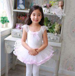 Wholesale Cheap Dancing Clothes - 2017 Cheap Girls Ballet Dress For Children Pink Dance Clothing Kids Ballet Costumes For Girls Dance Leotard Ballerina Dancewear