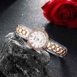 Wholesale Wrist Watches For Girls - Fashion Woman Bracelet Watch with CZ Diamond Rose Gold Round Dial Classic Wrist Watch Relogio Feminino Luxury Brand Design Gifts for Girls