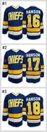 Wholesale Kids Boy Jacked - #16 Jack HANSON - Hanson brothers Charlestown CHIEFS # Cheap Youth Ice Hockey Jerseys Kids Boys Stitched Jersey Free Shipping Size S M L XL