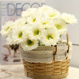Wholesale Decorations For Shops - Wholesale Romantic And Beautiful Artificial Gerbera Sunflowers for Wedding Party Fit For Home Shop Office desktop Decorations