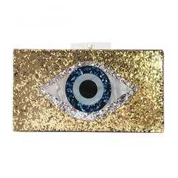 Wholesale Gold Prom Handbags - New handbag brand fashion wallet women messenger bags golden eye patchwork shoulderbag lady luxury party prom eveningbag woman Casual Clutch