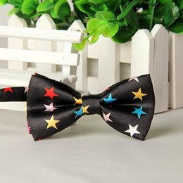 30 colori cartone stampa bambini papillon poliestere patchwork plaid stelle carino papillon cravatta bambini bambini regalo di natale 210047 da
