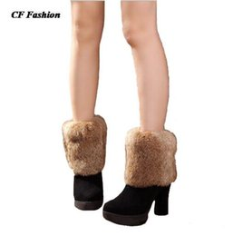 Wholesale White Fur Boot Cuff - Wholesale-15CM Quality women fur leg warmers sock boots 2016 new faux fur boot socks cuffs calentadores piernas botas femininas polainas
