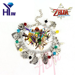 Wholesale Legend Zelda Accessories - 1Pcs The Legend of Zelda Charm Bracelets Classic Game Kinds of Pendent Accessories Bracelets Wristlet Bangle Vintage Jewelry