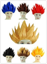 Wholesale Dragon Wig - Wukong Seven Dragon Wig Japan Dragonball Wukong Halloween Party Dragon Ball Z GoKu Cosplay Costume Children Adult Wig 6 Colors