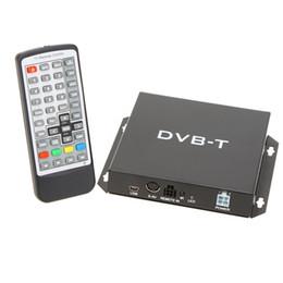 Wholesale Car Dvb Tv Tuner - DVB-T Various Channel Mobile Car Digital TV Box Analog Mini TV Tuner High Speed 240km h Strong Signal Receiver for Car Monitor