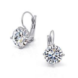 Wholesale Hoop Jade - arrings Hoop Earrings Magic Ikery New Gold Jewelry Big Zircon Crystal Gold & Silver Plated Hoop Earrings for Women Luxury Wedding Bri...