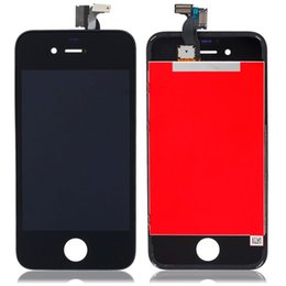 Wholesale Iphone 4s Retina Display - TOUCH SCREEN DISPLAY RETINA LCD FRAME SCHERMO VETRO PER IPHONE 4-4S BIANCO NERO