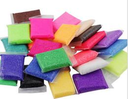 Canada EMS 24 couleur choisir Éducation populaire Jouets Neige Boue Fluffy Floam Slime Main Mastic 20g Soulagement du Stress Cadeaux pour Enfants Jouer Argile jouet Offre