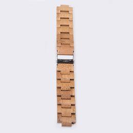 Wholesale Adjustable Wrist Bands - GNART Band Wooden Hardwood Watch Strap Wrist Bracelet with Adjustable Links for watch Watch (Bamboo strap 45mm )