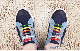 Wholesale Silicone Shoelaces - 2016 Creative Fashionable New Listed Lazy Silicone Shoe Laces Shoelaces free shipping DHL