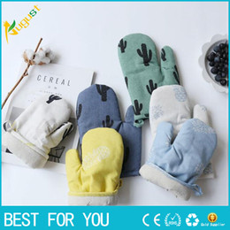 Wholesale Oven Mittens - New hot High Quality Cotton Oven Glove Heatproof Mitten Kitchen Cooking Microwave Oven Mitt Insulated Glove