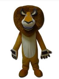 Wholesale Alex Lion - Madagascar lion Alex Cartoon Mascot Costume school mascots character Men costumes for guys fast ship