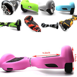 Wholesale Wholesale Self Balancing Scooter - Silicone Skin Case Cover for 6.5 inch Hoverboard Electric Scooter Protective 6.5inch Self Balancing Scooter 2 Wheels Smart Balance 19 Colors