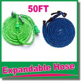 высокое качество 50 футов выдвижной шланг / расширяемый садовый шланг синий зеленый цвет быстрый разъем воды шланг с водяной пистолет OM-D9 от