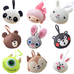 Wholesale Toy Sponge Balls - PrettyBaby animal model bath balls 15 styles for you to choose cute designs funny bath tools kids bath toys free shipping 50pcs Lot