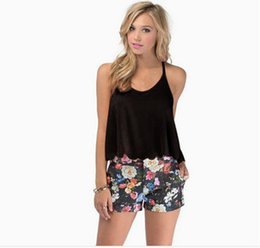 Wholesale Lace Chiffon Tank Top - Low Price High Quality Womens Summer Loose Casual Chiffon Sleeveless Vest T Shirt Tank Top Lady Blouse Tops Black White 6929