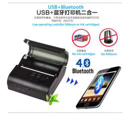 Wholesale Mini Mobile Portable Printer - Free shipping 2000mah 80mm Wireless WIFI Printer Portable Mini Mobile Printer USB WIFI Printer - Windows Smartphone