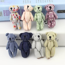 Wholesale Kids New Toys Arrivel - New Arrivel 20Pcs Mini Joint Bear Denim Teddy Bears Plush Toys Wedding Gifts Kids Cartoon Toys Christmas Gifts Couple Gifts
