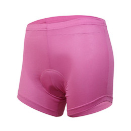 Wholesale Bike Bicycle Cycling Padded Underwear - 2015 women ladies cycling bike bicycle biking bib underwear shorts undershorts 3D cool max silicone padded