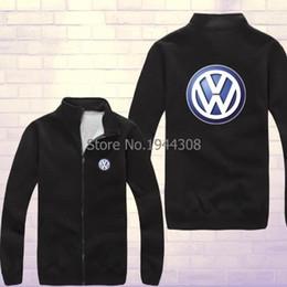 Wholesale Vw Stores - Wholesale-Colors new arrived winter VW Volkswagen sweatshirt 4S store fixtures fans fleece Pullover zipper coat