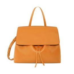 Wholesale Print Logo Handbag - Drawstring Bucket Lady Bag Fashion Shoulder Bag Female Handbag Messenger Bags Drawstring With Logo Printed
