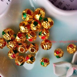 Wholesale Thailand Amulets - [produced] DIY accessories wholesale bell into the enamel big hole Thailand amulet fittings metal bead bead