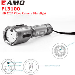 Wholesale Mini Laser Outdoor - 2016 new Arrival FL3100 720P HD Video MINI Flashlight Laser Camera Outdoor Sport Surveillance Camera Camcorder LED Flashlight Free Shipping