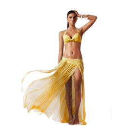 Wholesale Beach Skirts Wraps - Beach Dress Bikini Cover Up Sexy Wrap Women Summer Bathing Swimwear Sarong Skirt 5 Color 2506034