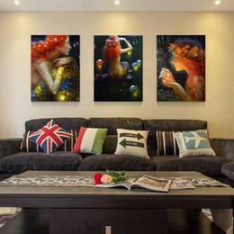 Vente chaude 3 Panneaux Toile Moderne Triptyque Peinture Murale Souhaitant Sirène Sea-maid Maison Art Décoratif Photo Peinture sur Toile Impressions 24 * 16in * 3 ? partir de fabricateur