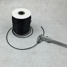 Wholesale Waxing Cord - Wholesale - Free Shipping! 80M Black Waxed Cotton Necklace Cord 2mm (B12102)