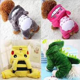 Wholesale Pink Teddy Large - With small dogs Teddy Totoro turned new clothing dog clothes four cotton pet clothes and money