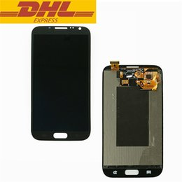 Wholesale Mobile Phone Replacement Parts - Original Mobile Phone LCD Touch Screen Display Assembly For Samsung Galaxy Note 2 N7100 Repair Replacement Parts DHL Free Shipping