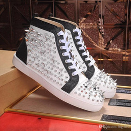 Wholesale Handmade Rivets - Cheap red bottom sneakers 100% Handmade rivet Punk style High-quality Cow leather Perfect to enjoy casual shoes size 35-46 model 174754697